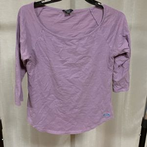 3/4 length sleeve purple Oakley Tee EUC